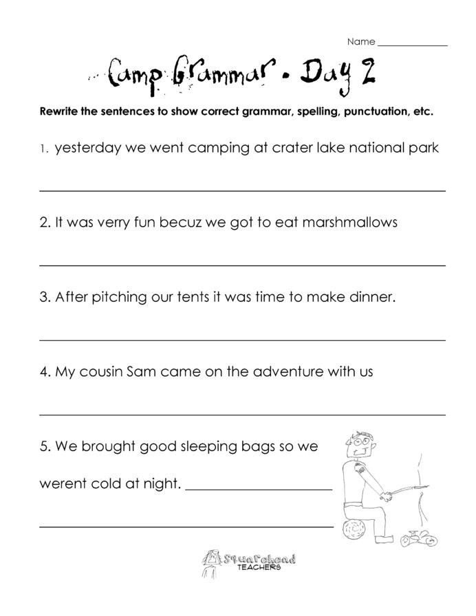 Grammar 3rd Grade Worksheets Free 3rd Grade Science Worksheets Printable and Grammar for