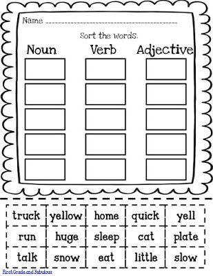 Grammar Worksheet First Grade Just Hodgepodge and A Little Freebie Worksheet