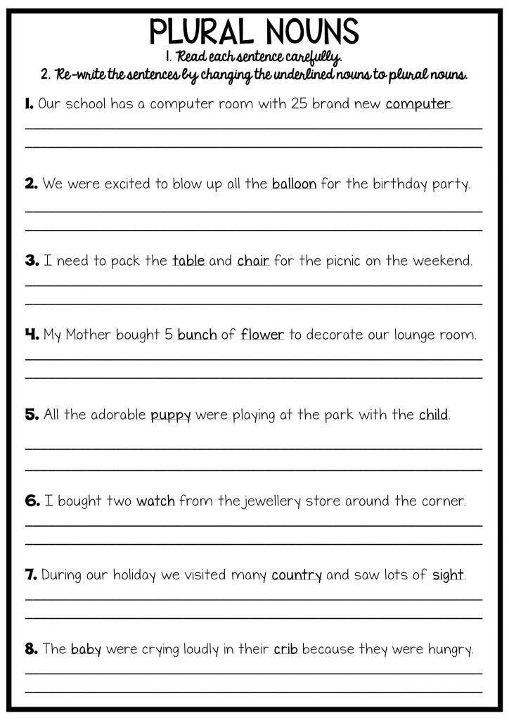 Grammar Worksheets 3rd Graders 3rd Grade Writing Worksheets