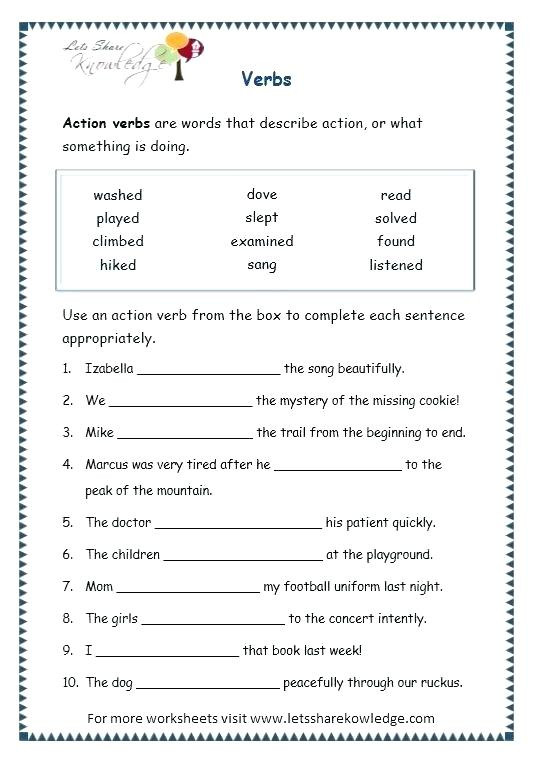 Grammar Worksheets for 3rd Grade Grade 3 English Worksheets – Leter