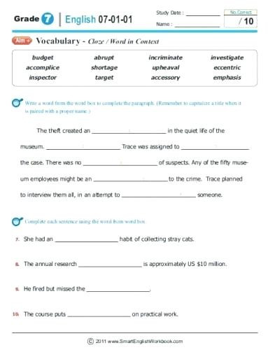 Grammar Worksheets for 8th Graders Free Grammar Worksheets 8th Grade – Goodaction