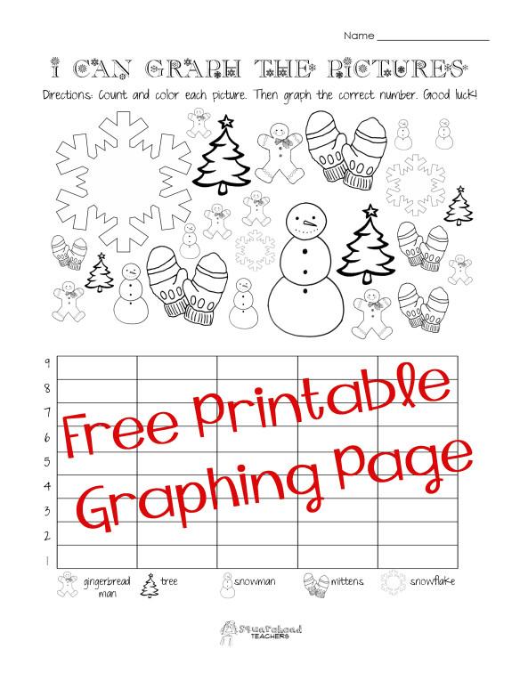 Graphing Worksheets Kindergarten Free Christmas Winter Graphing Worksheet Kindergarten