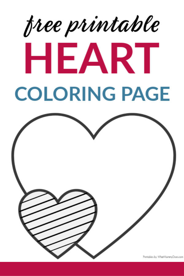 Heart Coloring Worksheet Easy Heart Coloring Pages for Kids Stripe Patterns What