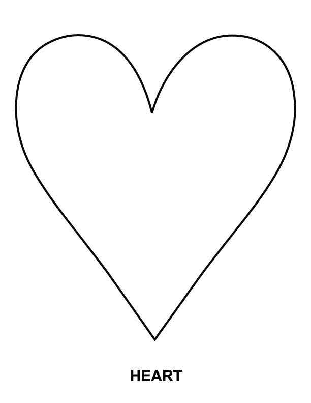 Heart Coloring Worksheet Heart Coloring Page