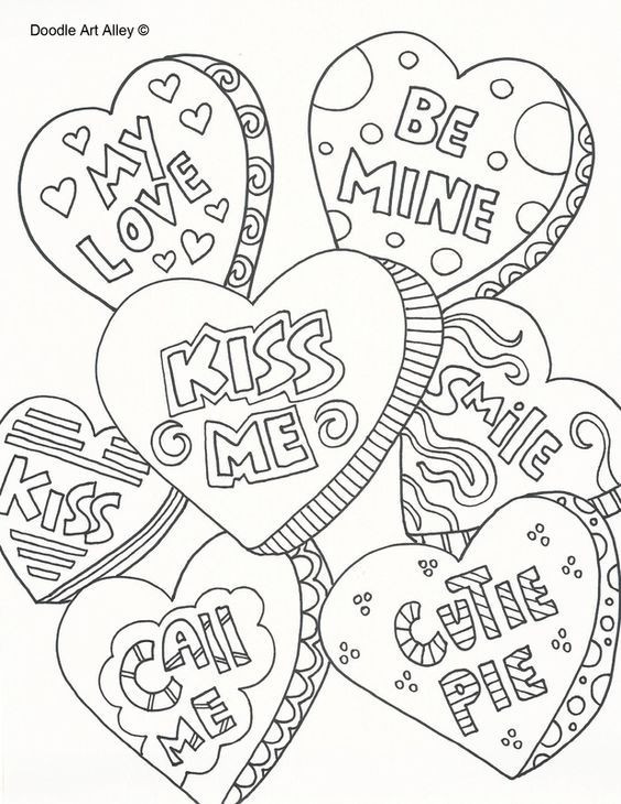 Heart Coloring Worksheet Hearts Coloring Page