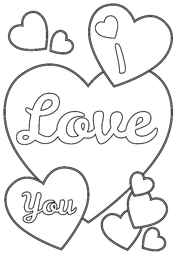 Heart Coloring Worksheet Love Hearts Coloring Pages Coloring Home