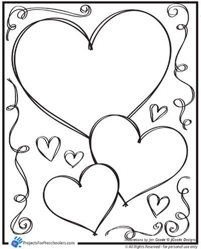 Heart Coloring Worksheet Valentine Hearts and Swirls Coloring Page