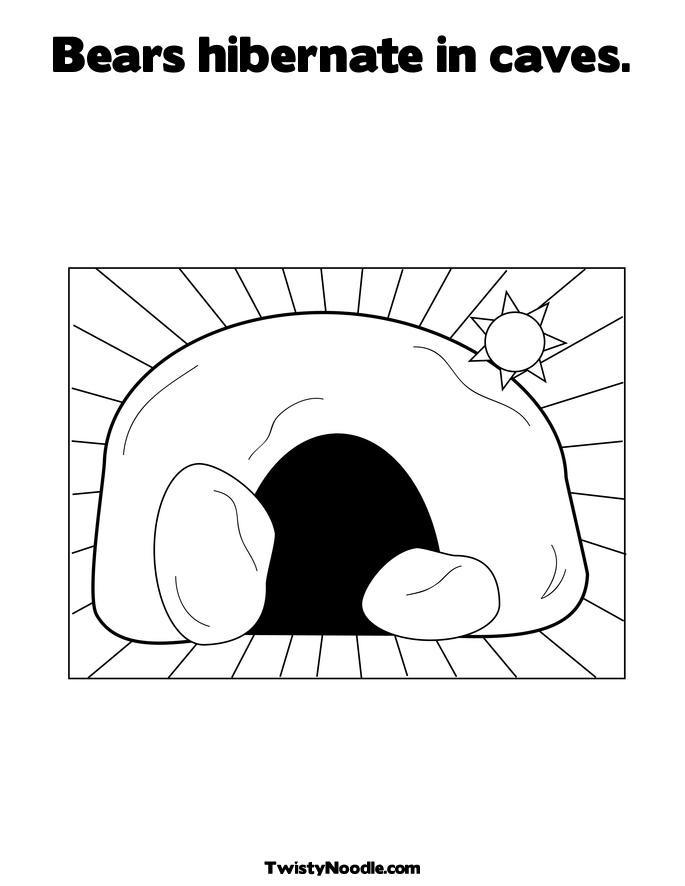 Hibernation Worksheet for Preschool Coloring Pages Bears Hibernation Hibernation Coloring