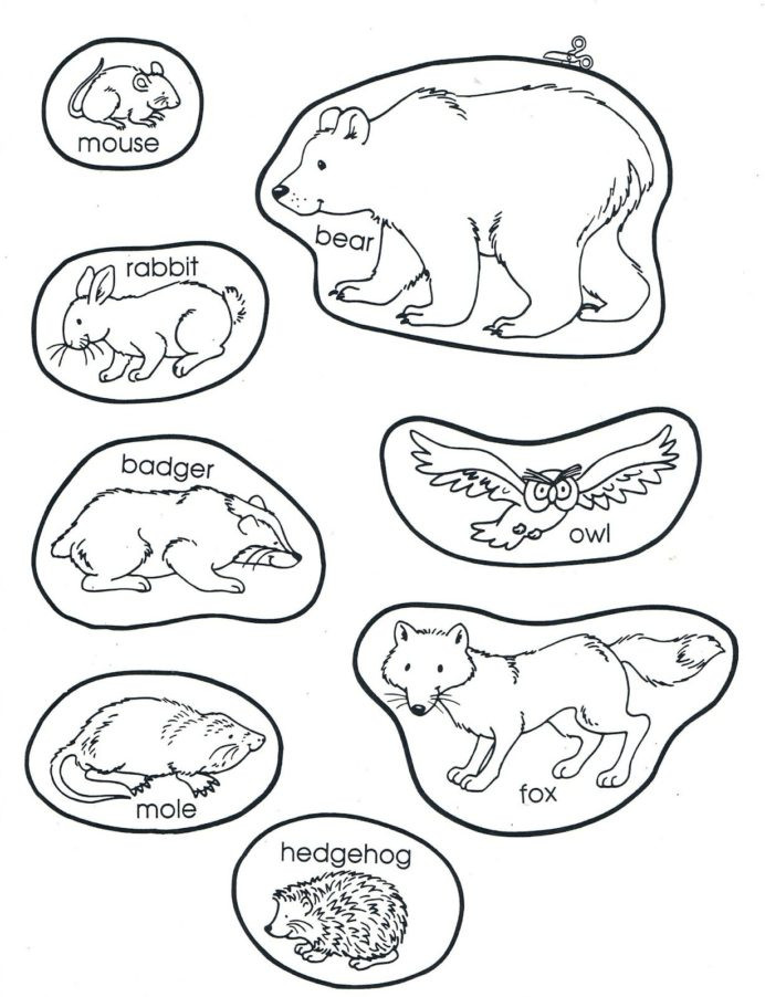 Hibernation Worksheets for Kindergarten the Mitten Animals Preschool Books Winter Kindergarten