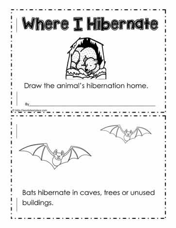 Hibernation Worksheets for Kindergarten where Do I Hibernate Worksheets