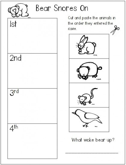 Hibernation Worksheets for Preschool Hibernation Worksheets Kindergarten & Hibernation Worksheets