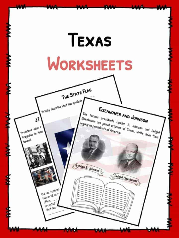 History Worksheets for 2nd Grade State Texas Facts Worksheets & Historical Information