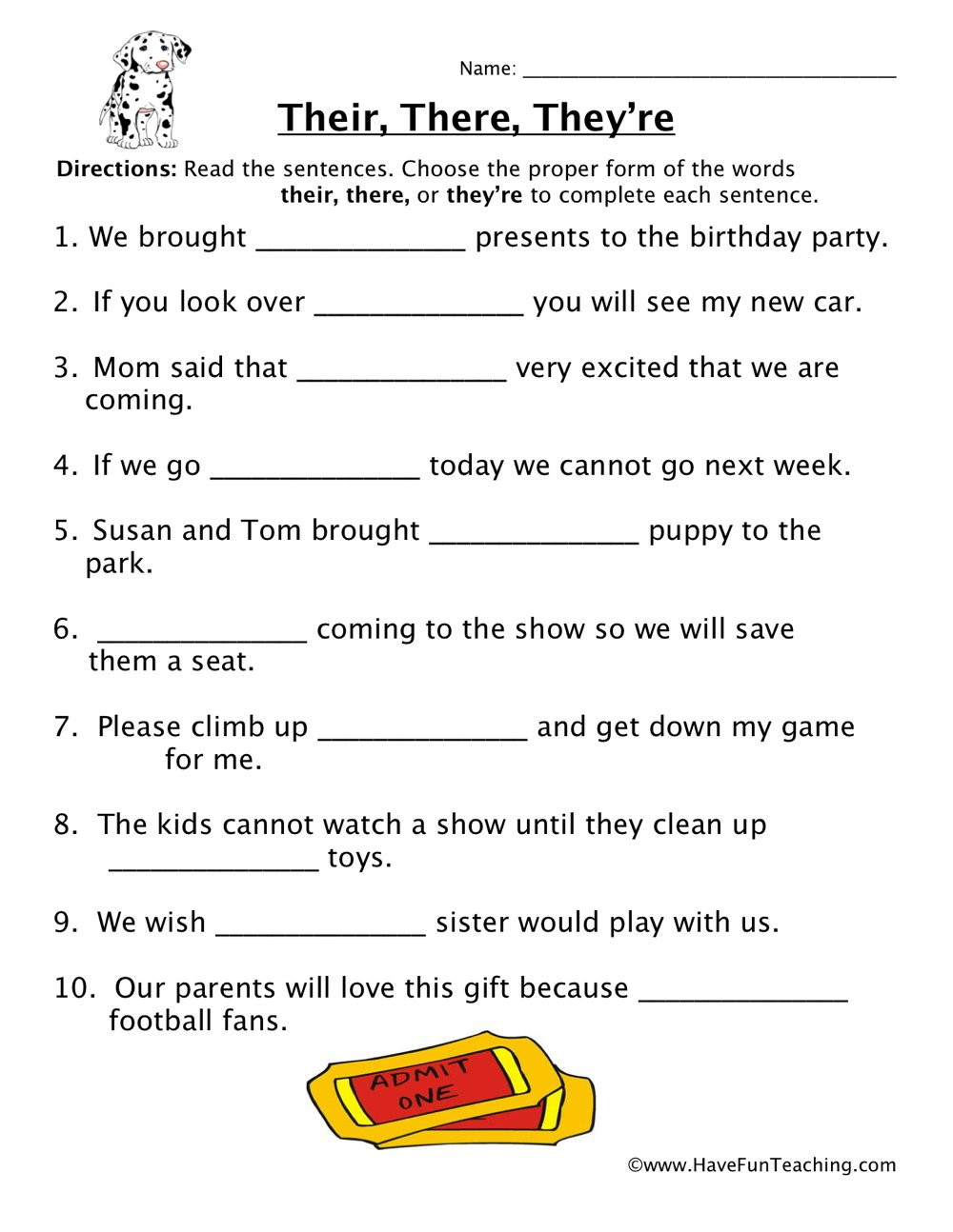 Homophones Worksheets for Grade 2 their there they Re Homophones Worksheet