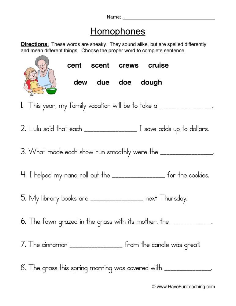 Homophones Worksheets for Grade 5 Homophones & Homonyms Lessons Tes Teach