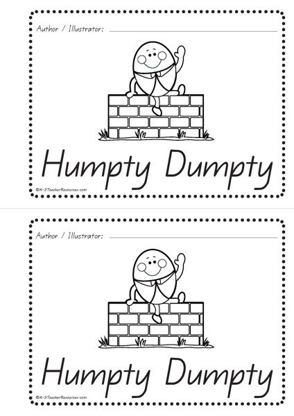 Humpty Dumpty Printable Book Humpty Dumpty Concept Book Easy Print Qld Page 07 K 3