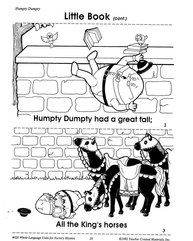 Humpty Dumpty Printable Book Humpty Dumpty Printables Learningenglish Esl