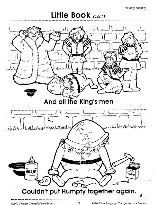 Humpty Dumpty Printable Book Humpty Dumpty Printables