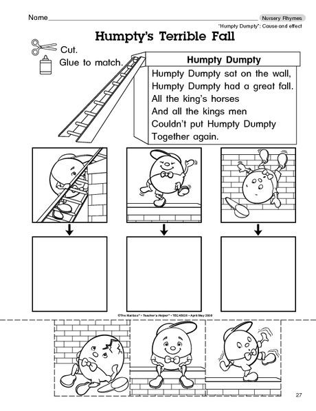 Humpty Dumpty Printable Book Humpty Dumpty Sequencing