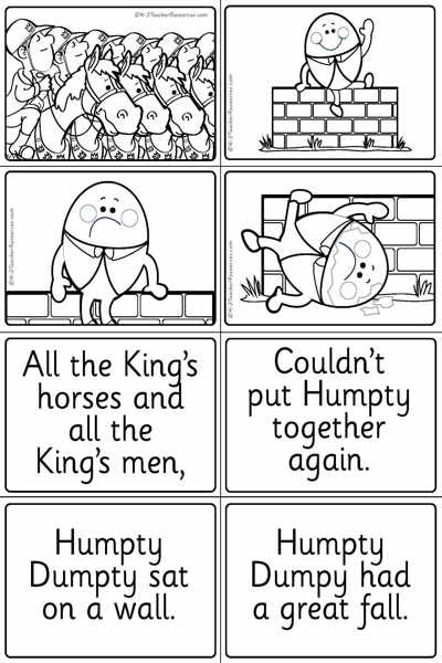 Humpty Dumpty Printable Book Humpty Dumpty Words Pictures Page 2 K 3 Teacher Resources