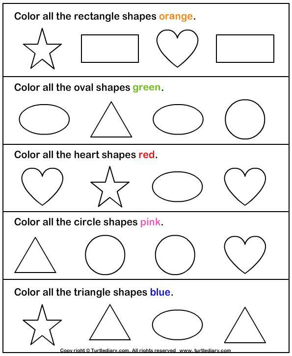Identify Shapes Worksheet Kindergarten Identifying Shapes Worksheets Kindergarten & Free Worksheets
