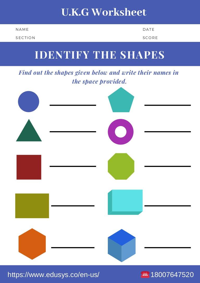Identify Shapes Worksheet Kindergarten Kindergarten Math Worksheet Free Pdf Printable