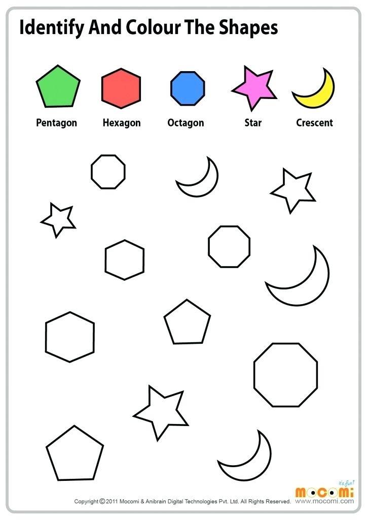 Identify Shapes Worksheet Kindergarten Shapes and Colors Worksheets for Kindergarten