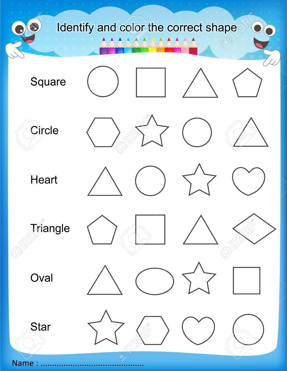 Identify Shapes Worksheet Kindergarten Worksheet Kindergarten Shapes Worksheets Recetasnaturista 2d