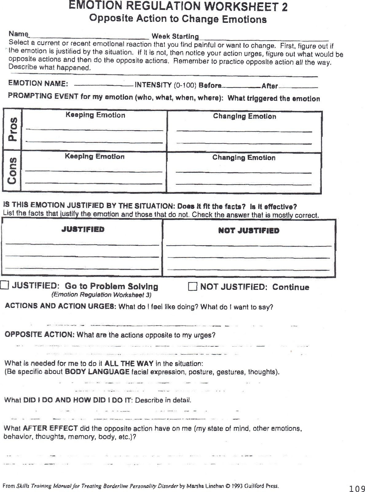 Impulse Control Worksheets Printable Stop Think Go Worksheet
