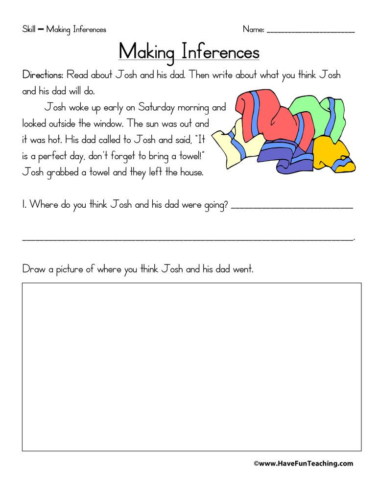 Inference Worksheets 4th Grade Inference Worksheets Inference Worksheet Free Inference