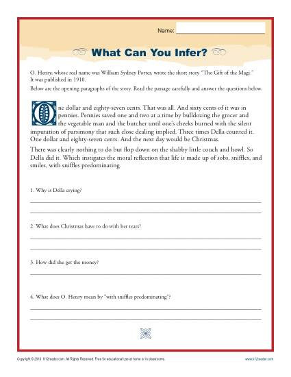 Inference Worksheets Grade 4 What Can You Infer