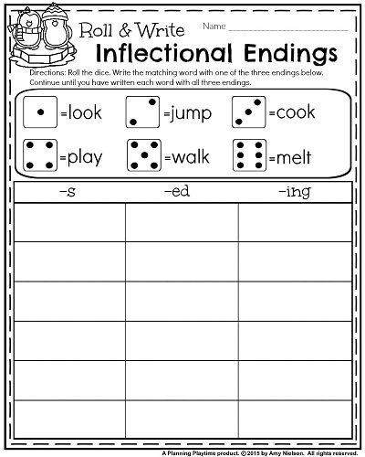 Inflected Endings Worksheets 2nd Grade 1st Grade Worksheets for January