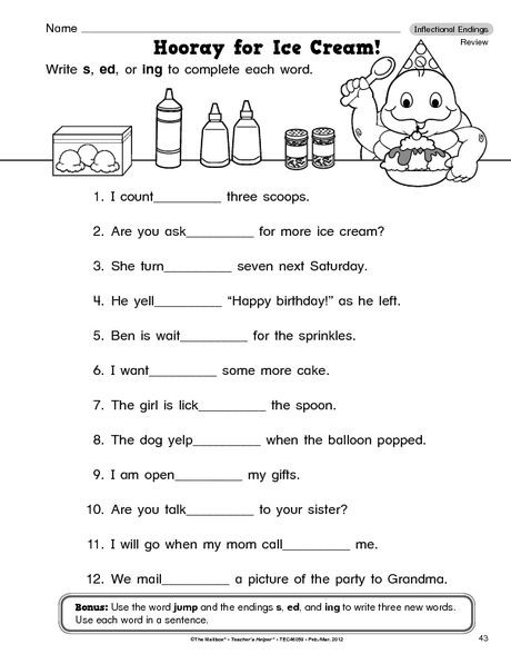 Inflected Endings Worksheets 2nd Grade Inflected Endings