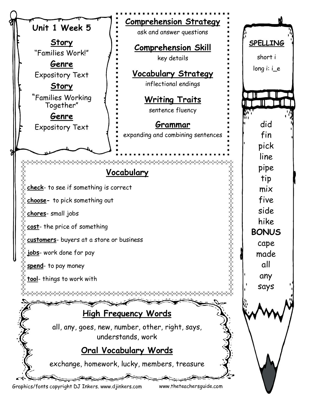 Inflected Endings Worksheets 2nd Grade Wonders Second Grade Unit E Week Five Printouts