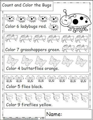 Insects Worksheets for Kindergarten Bugs and Insects
