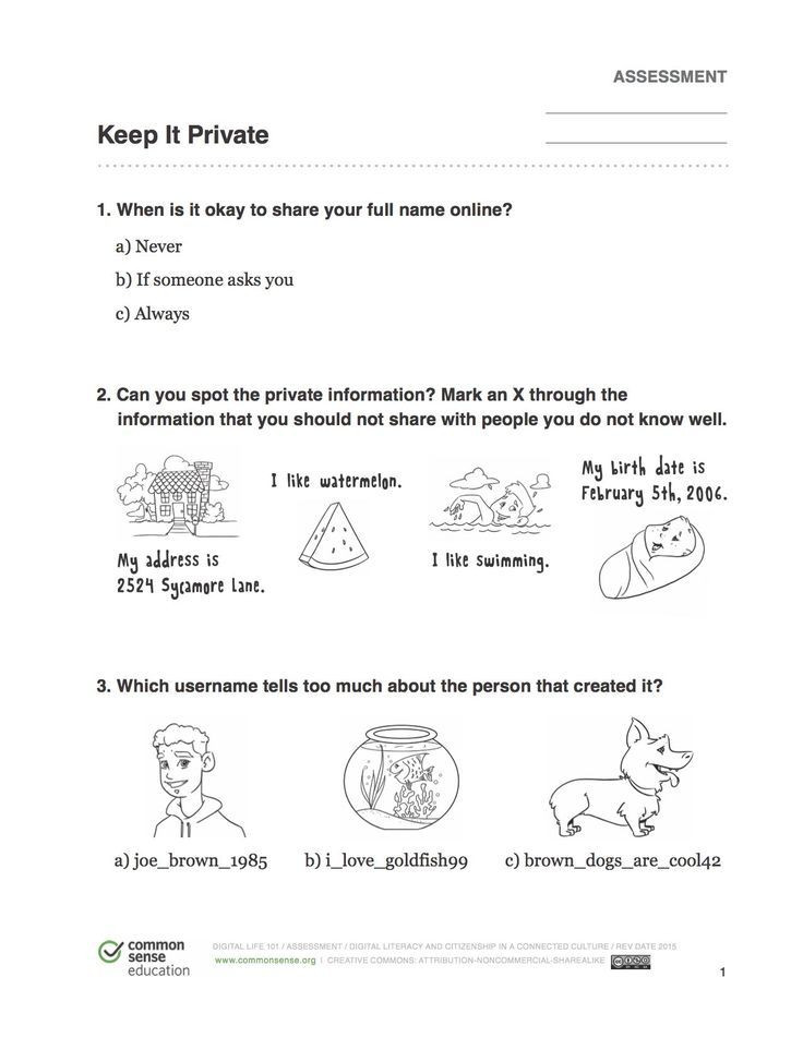 Internet Safety Worksheets Printable Idea by Helen White On Internet Safety In 2020