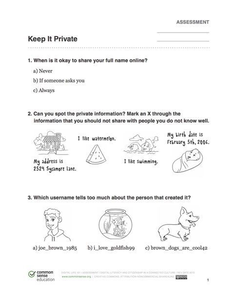 Internet Safety Worksheets Printable Internet Safety Worksheet for Kids