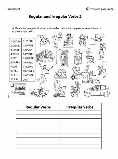 Irregular Verbs Worksheet 2nd Grade Regular and Irregular Verbs 2 B&w Worksheet
