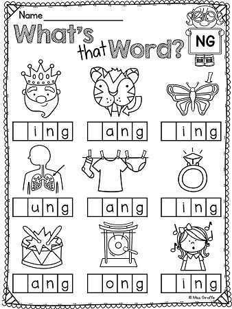 Jolly Phonics Worksheets for Kindergarten Ending Blends Worksheets and Activities