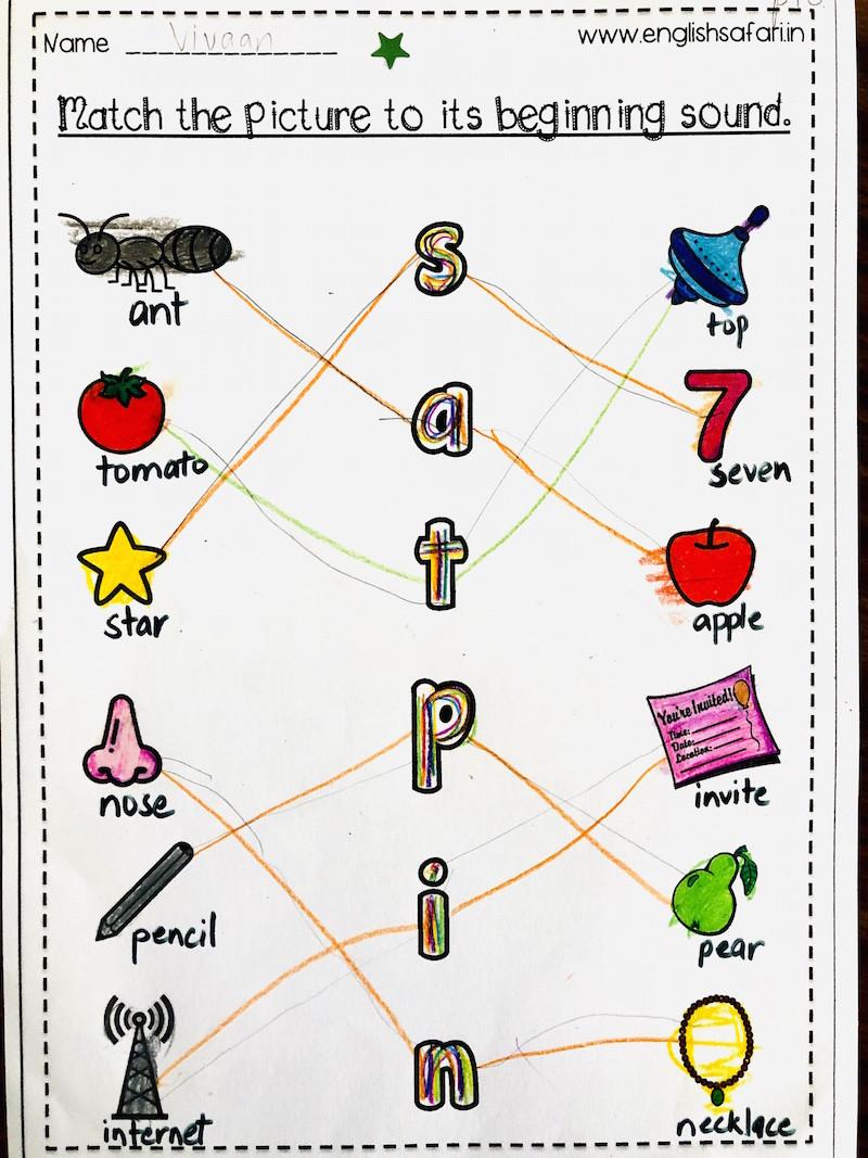 Jolly Phonics Worksheets for Kindergarten Jolly Phonics sounds Worksheets for Beginning sounds