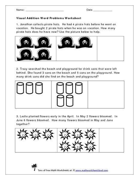 Kindergarten Addition Word Problems Worksheets Visual Addition Word Problems Worksheet Worksheet for