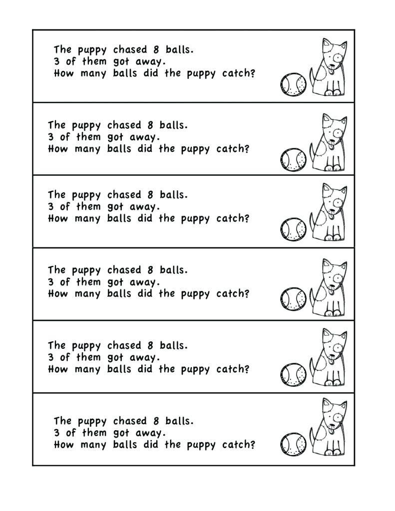Kindergarten Addition Word Problems Worksheets Word Problems Worksheets 1st Grade Grade Math Problems for