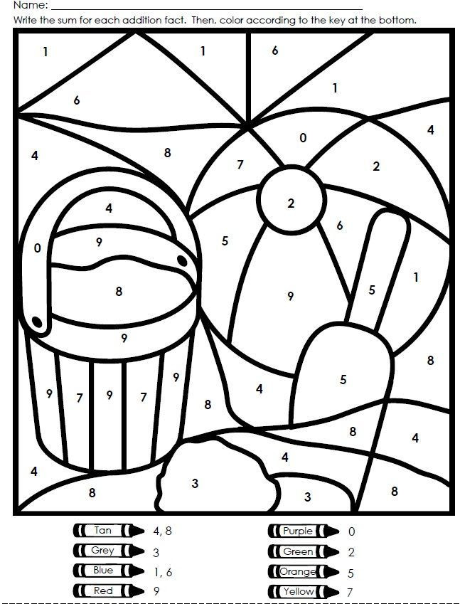 Kindergarten Color by Number Worksheets Celebrate the First Day Of Summer with This Color by Number