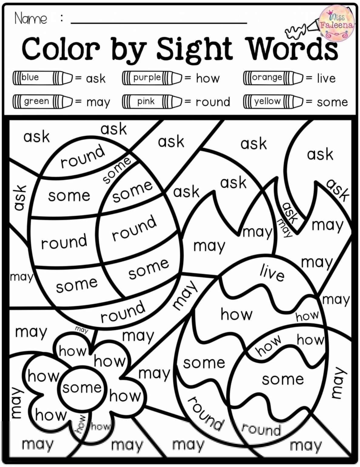 Kindergarten Color Words Worksheets Pin On School Phonics