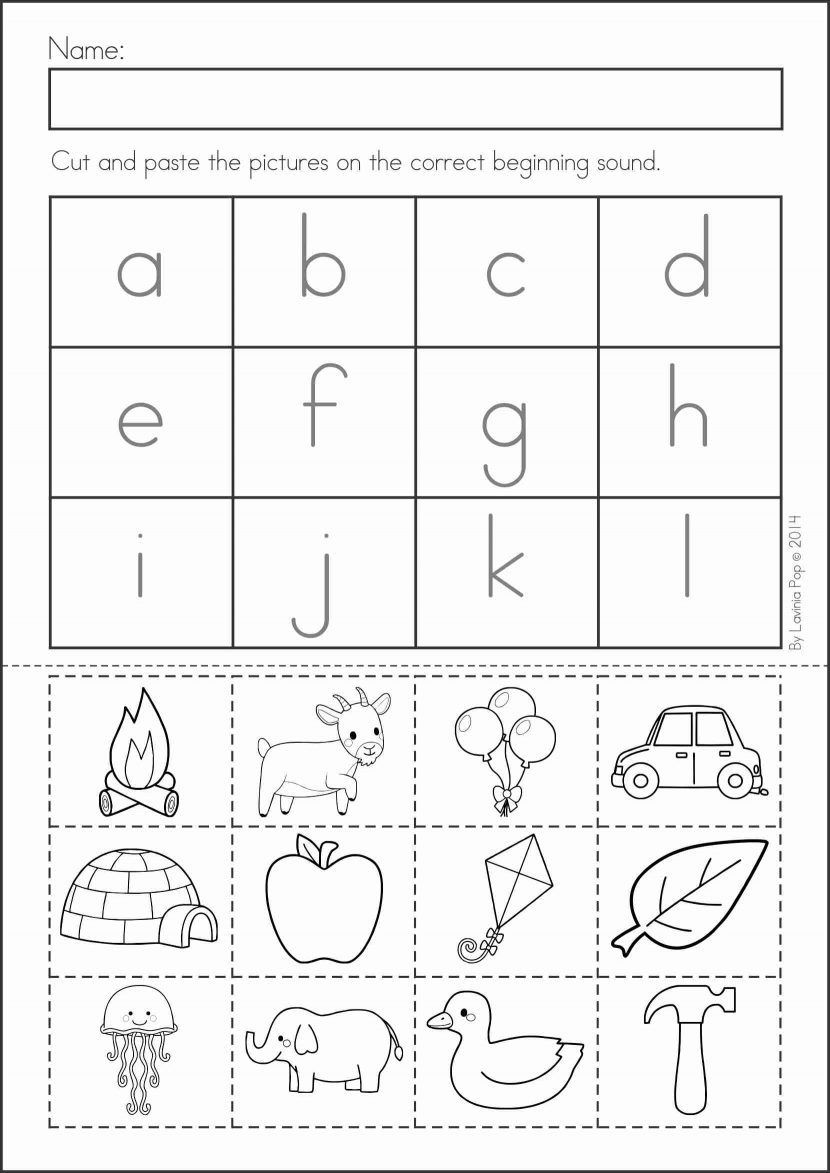 Kindergarten Cut and Paste Worksheets Pin On Alphabet Activities
