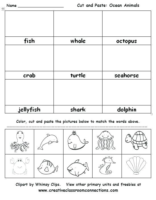 Kindergarten Cut and Paste Worksheets Thanksgiving Cut and Paste Worksheets – Bahamasecoforum