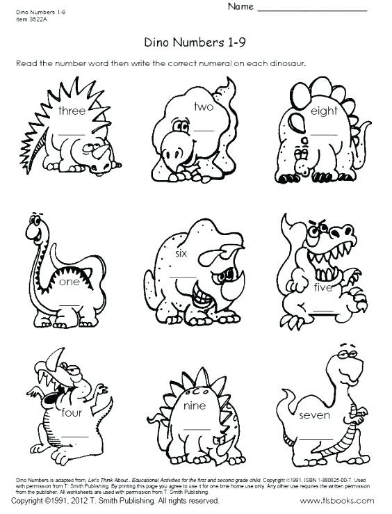 Kindergarten Dinosaur Worksheets Dinosaur Math Worksheets Dinosaur Worksheets for