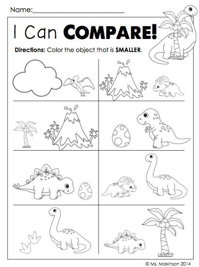Kindergarten Dinosaur Worksheets Dinosaur Worksheets for Kindergarten