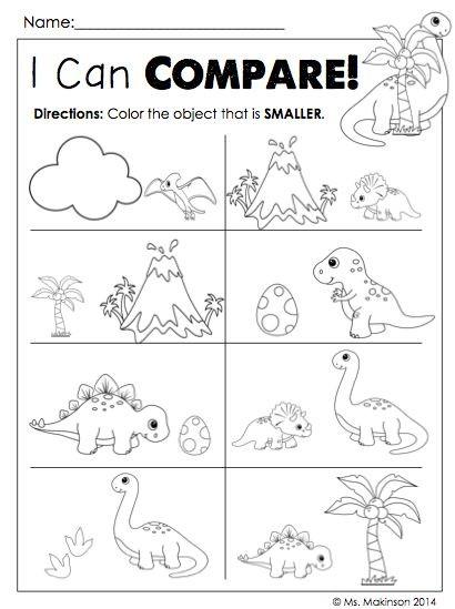 Kindergarten Dinosaur Worksheets Dinosaur Worksheets for Kindergarten