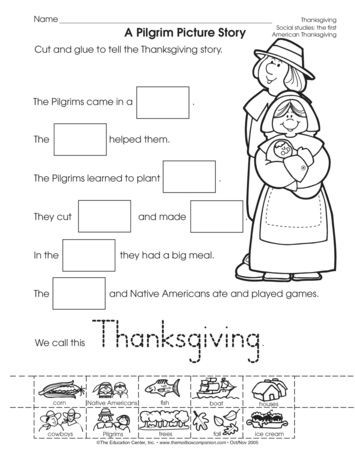 Kindergarten History Worksheets A Pilgrim Picture Story Lesson Plans the Mailbox
