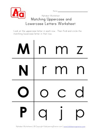 Kindergarten Lowercase Letters Worksheets Letter Worksheets Uppercase and Lowercase M N O and P